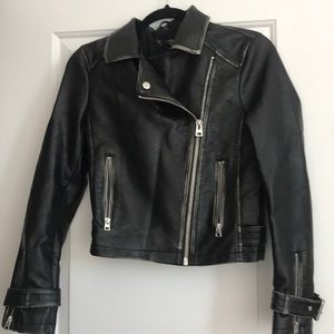 NWT Top shop leather jacket